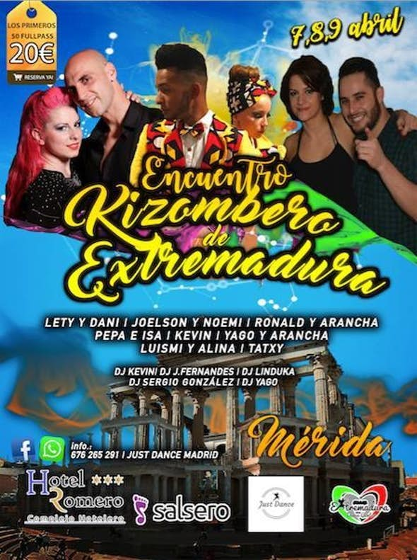Meeting Kizombero of Extremadura 2017 (1st Edition)