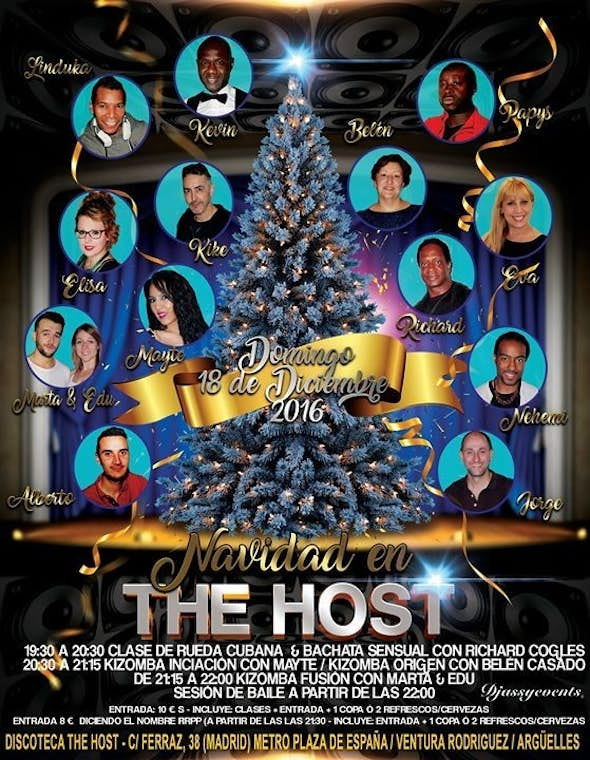 ★Navidades en The Host Kizomba Bisú★ Domingo 18-12-2016