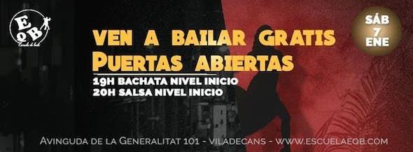 Baila gratis desde inicio Salsa y Bachata SAB 7 Enero