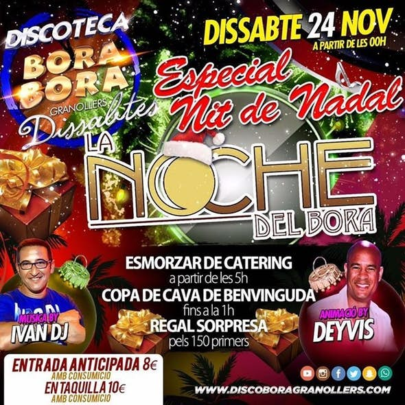 Christmas night in La Noche del Bora