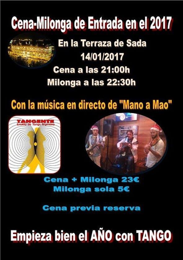 Cena-Milonga con música en directo