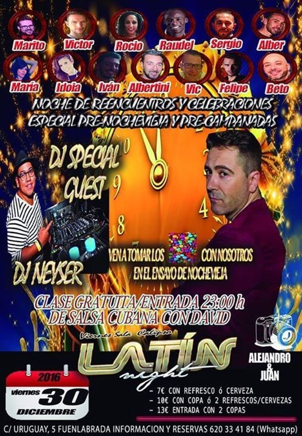 Ultima Latin Night 2016 Sala Calipso 30/12/2016