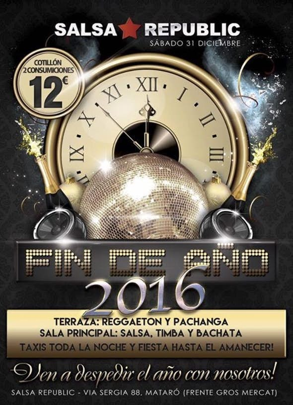 New Year's Eve Party 2016 Salsa Republic