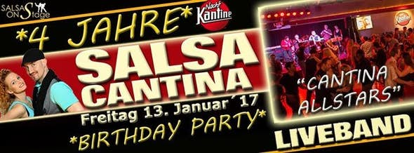 "Salsa Cantina ""Birthday Party"" mit Liveband ""Cantina Allstars"""