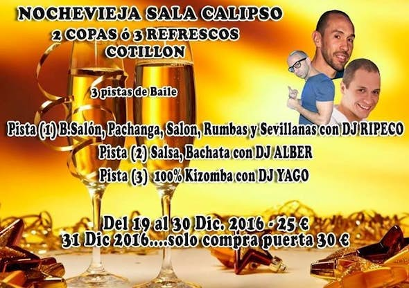 New Year's Eve Party 2016 in Sala Calipso