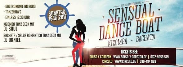 Sensual Dance Boat - Kizomba + Bachata auf der MS Starnberg