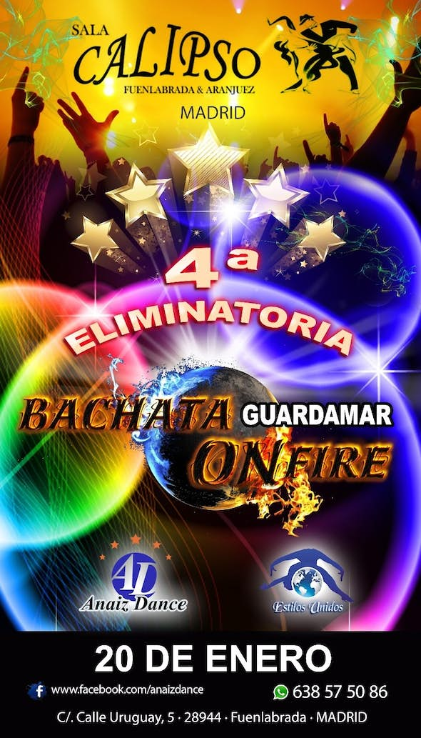 BACHATA ON FIRE - 4th tie in Sala Calipso