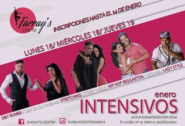 Intensives of January in Farray's Center ¡Sign In!