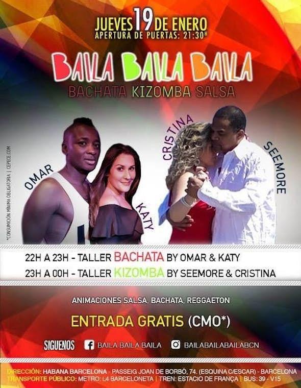Jueves de Kizomba y Bachata en Barcelona