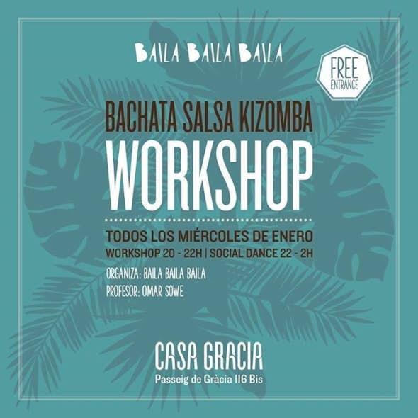 Aprende Bachata, Kizomba y Salsa con taller gratis en Barcelona