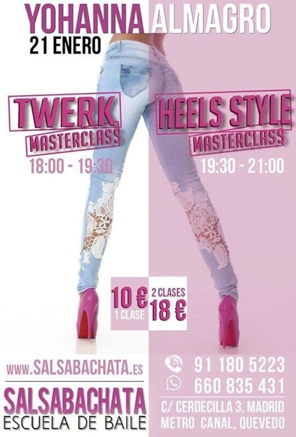 Masterclass de Twerk y Masterclass de Heels Style
