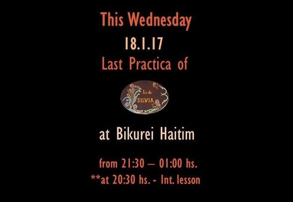 Last Practica at Bikurei Haitim - Clossing a piece of History