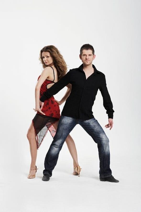 Salsa Trainingsclass in Partnerwork mit Peter und Dorota