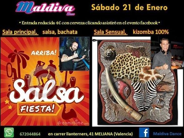 Social salsa and bachata + kizomba 100%