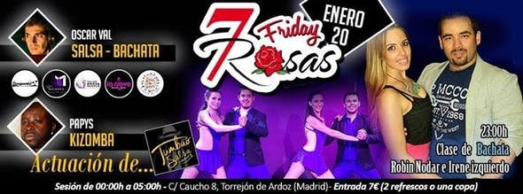 Friday 20th january in 7 ROSAS Salsa