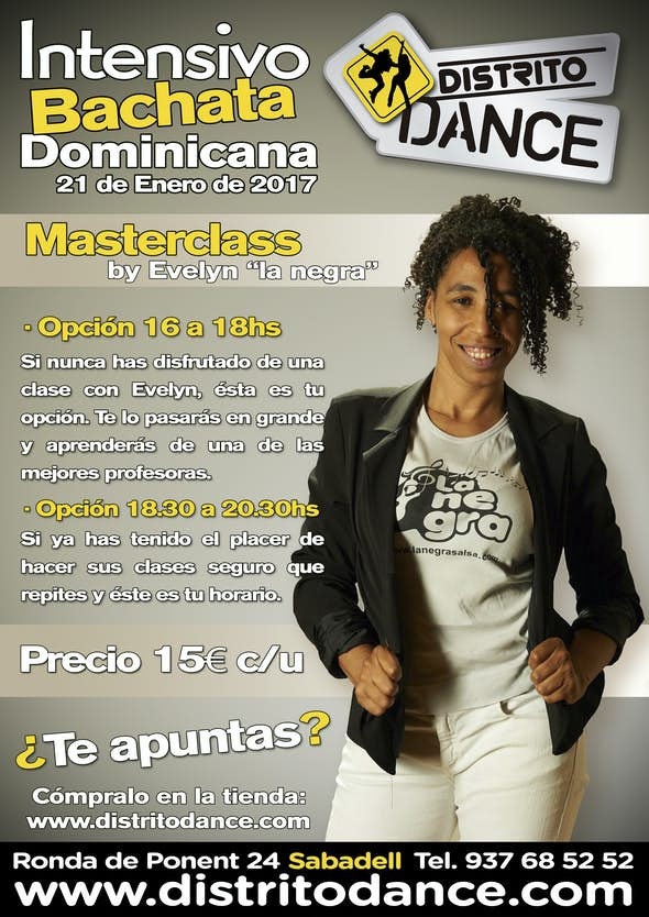 """Bachata Dominicana workshop with Evelyn """"la negra"""""""