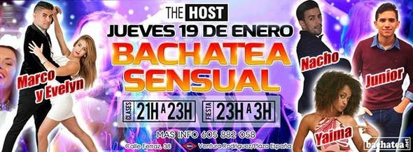 Thursday 19th january Bachatea Sensual
