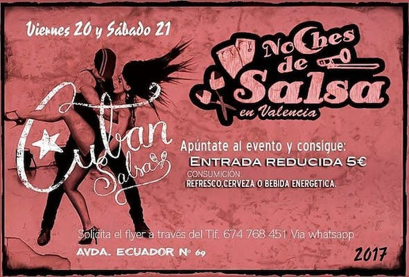 Noches de Salsa parties of friday and saturday