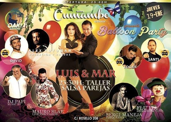 Jueves 19 Balloon Party en Cumambo Barcelona