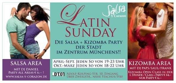 Latin Sunday - Salsa, Bachata Area + Kizomba Area mit DJ Frank