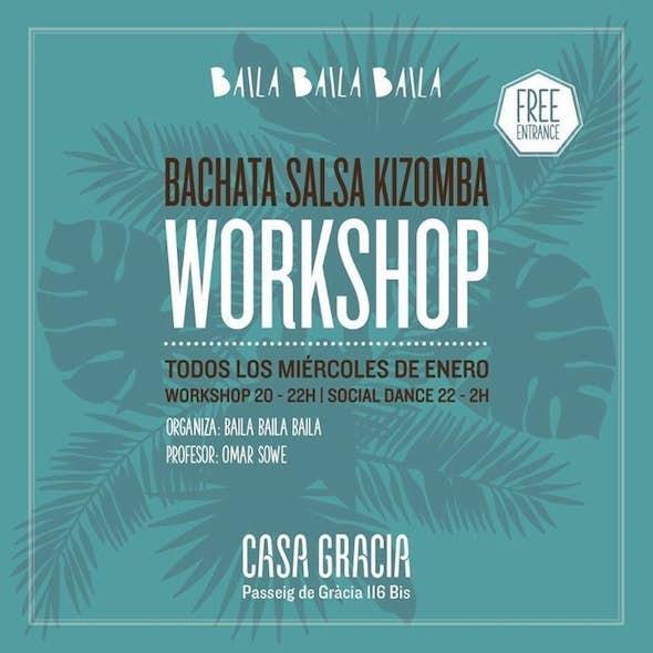 Learn Bachata, Kizomba & Salsa Barcelona for free