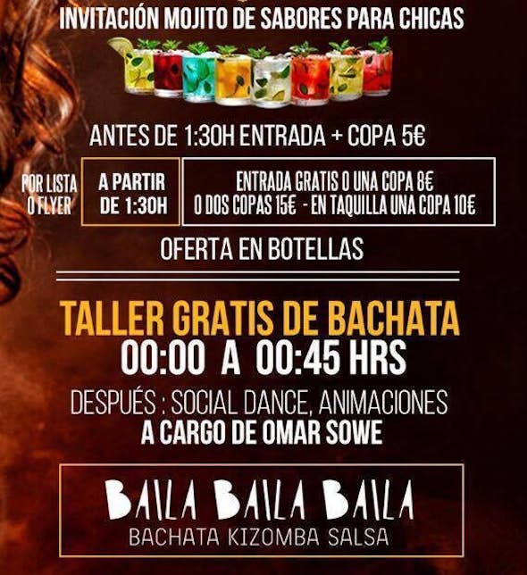 Bachata Friday in Barcelona with free admission
