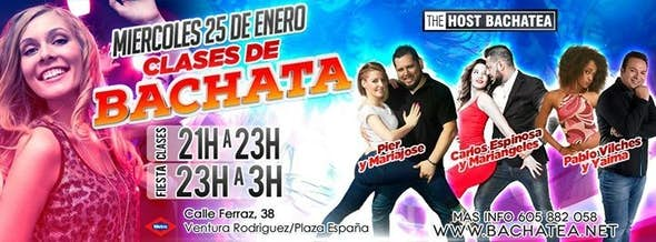 Wednesday 25/01 Bachatea The Host