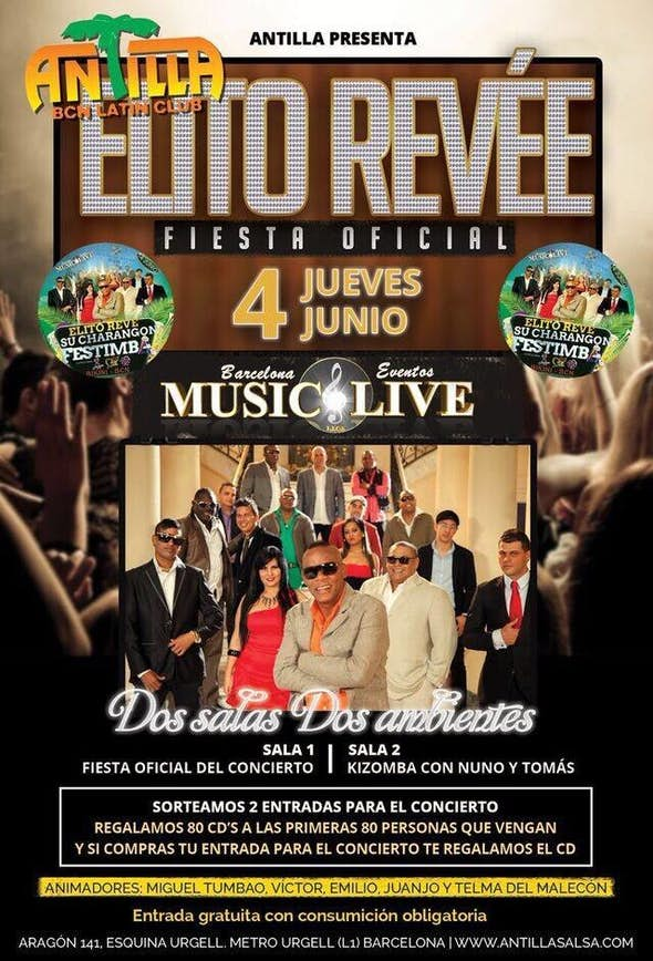 Official party about the concert of Elito Revé
