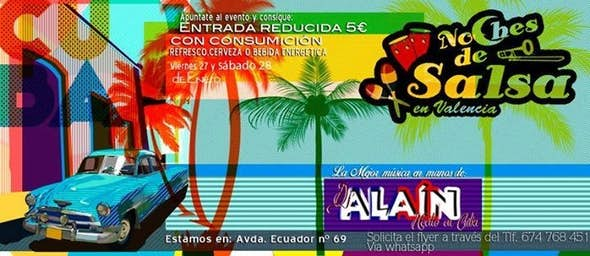 Noches de Salsa, reduced entrance 5€ with drink