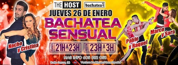 Thursday 26 January Bachatea Sensual