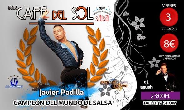 Fiesta en Pub Café del Sol con Javier Padilla (campeón del mundo)