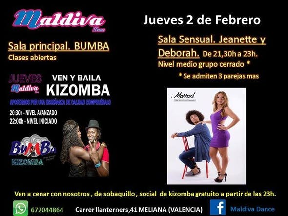 Kizomba and Social Party for free