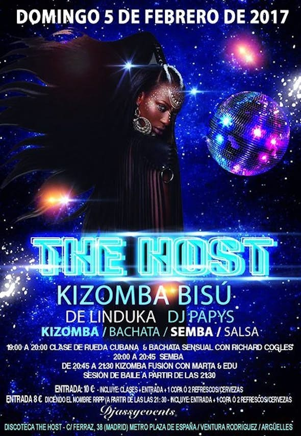 The Host Kizomba Bisú - Sunday 5 February 2017