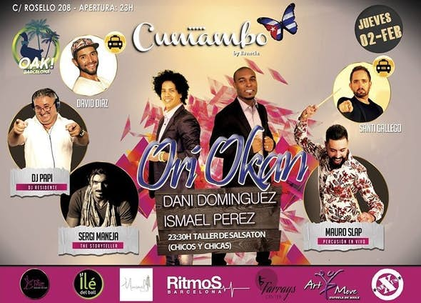 Cumambo February 2 with Ori Okan (Workshop Salsatón and live Percussion)