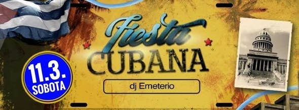 Cuban party with DJ Emeterio March 11