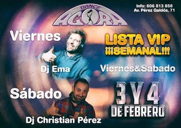 Fiesta Del baile social y lista Vip viernes 3 y sábado 4 febrero