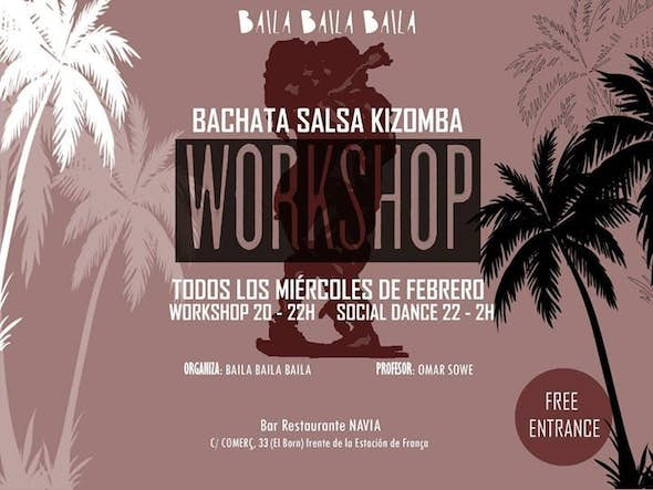 Workshop and party for FREE Bachata and Kizomba in the Bar restaurante Navia