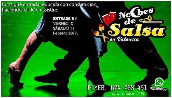 Noches de Salsa, reduced entrance