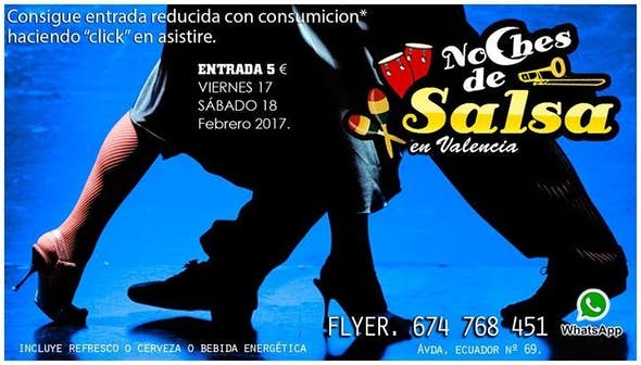 Noches de Salsa, reduced entrance