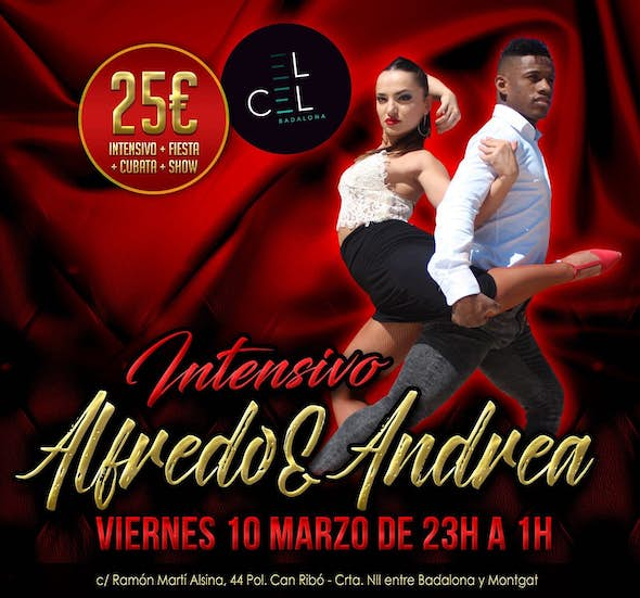 Bachata workshop 2h. with Alfredo & Andrea + party at el Cel Badalona