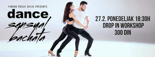 Bachata drop-in radionica / Dance sensual / Ponedeljak 27.2.