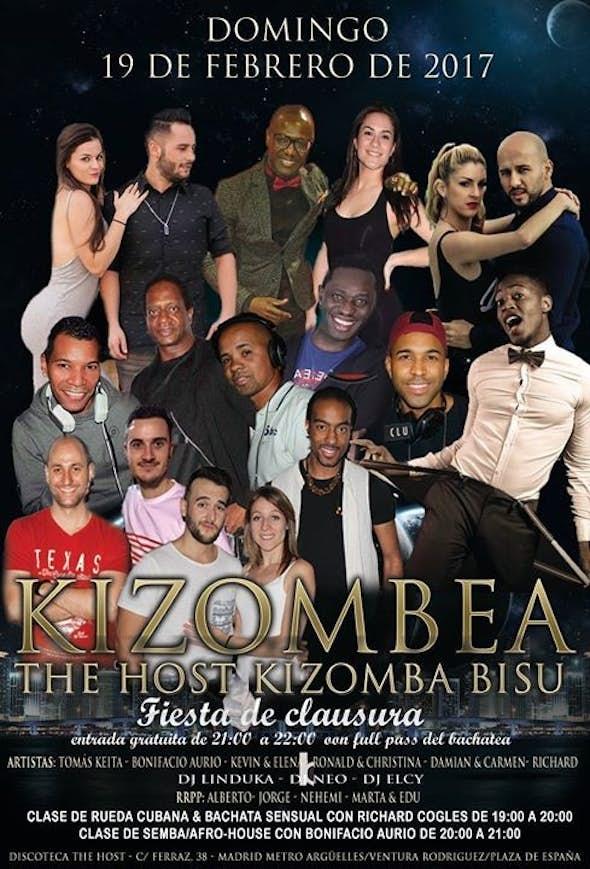 Fiesta de clausura del kizombea Domingo 19 de febrero de 2017