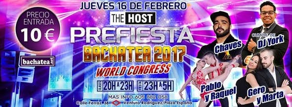Pre-Party Bachatea World Congress 2017