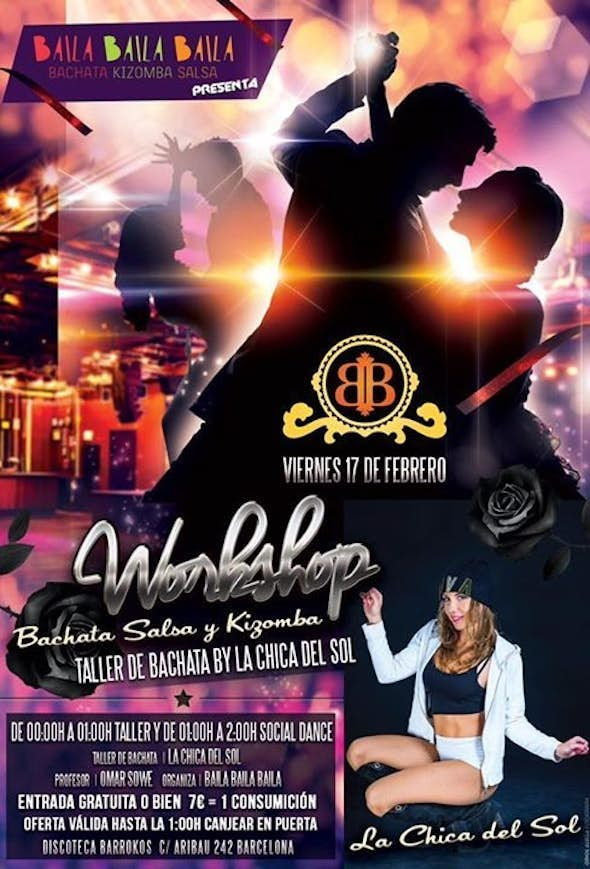 Friday Bachata workshop free entrance in Barroko's