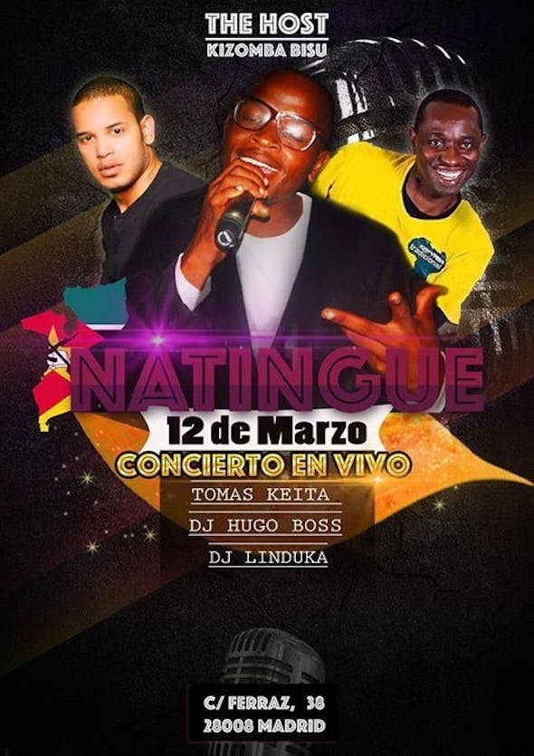 Live Concert Natingue - TheHost KizombaBisú - Sunday 12 March