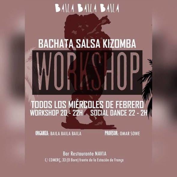 Wednesday Bachata & Kizomba Workshop (Bar restaurante Navia)