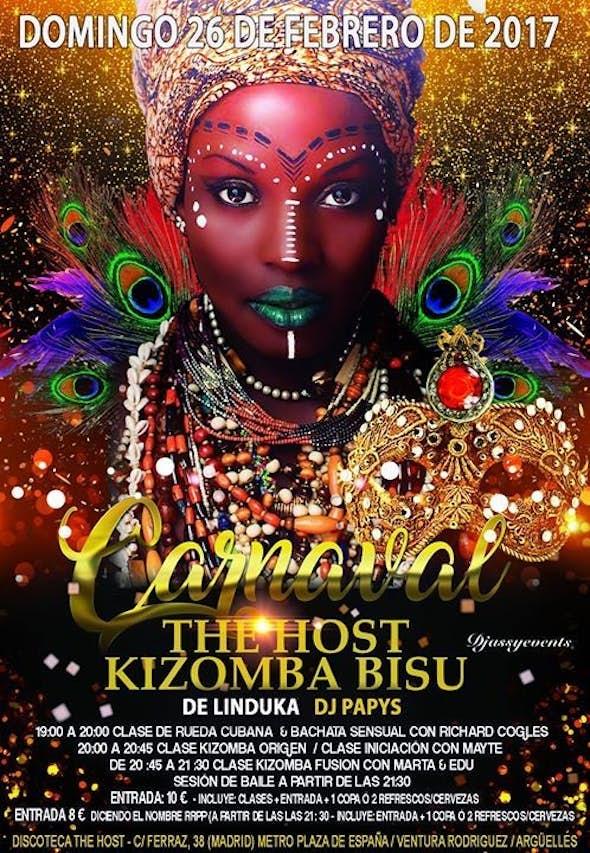 Carnival in The Host Kizomba Bisú - Sunday 26th of February 2017