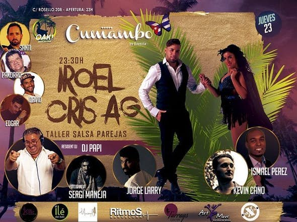 Iroel & Cris AG- Taller Salsa. Con Kevin, Isma & Jorge Larry.