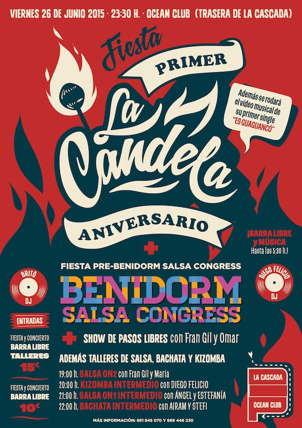 1st Anniversary of La Candela and party Pre-Benidorm Salsa Festival