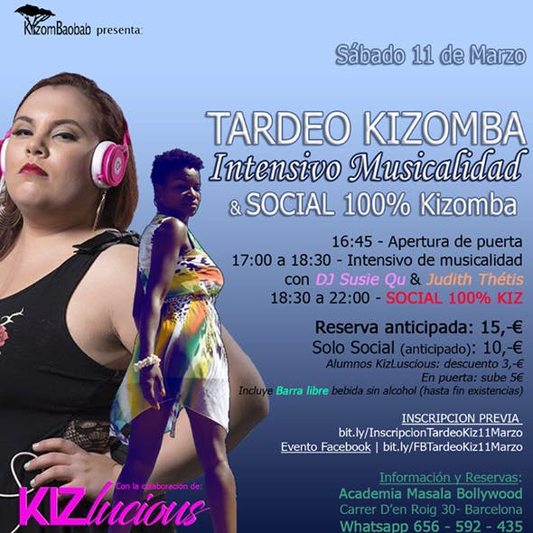 Tardeo Kizomba: Intensivo Musicalidad + Baile Social
